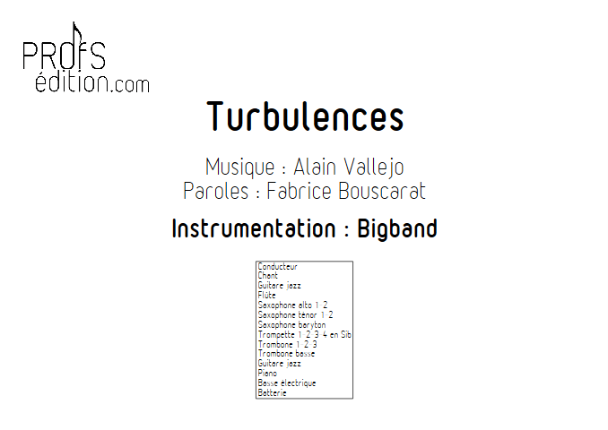 Turbulences - Big Band - VALLEJO A. - front page