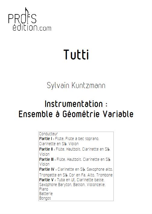 Tutti - Ensemble à Géométrie Variable - KUNTZMANN S. - front page