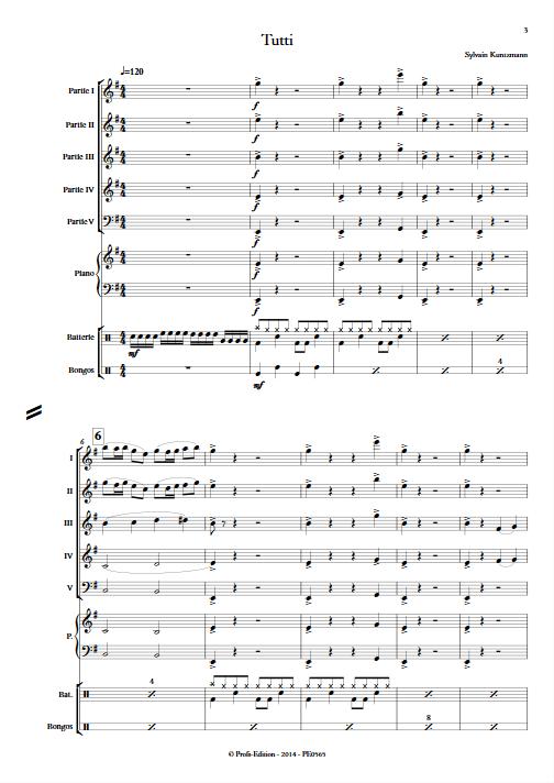 Tutti - Ensemble à Géométrie Variable - KUNTZMANN S. - app.scorescoreTitle