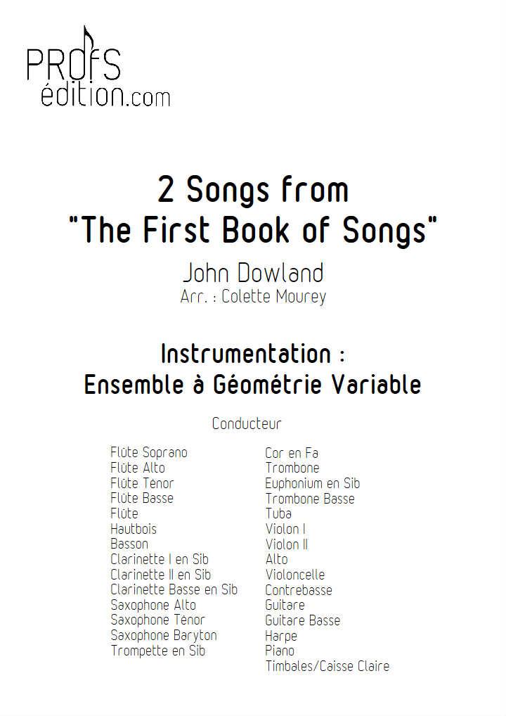 Two Songs - Ensemble Géométrie Variable - DOWLAND J. - front page