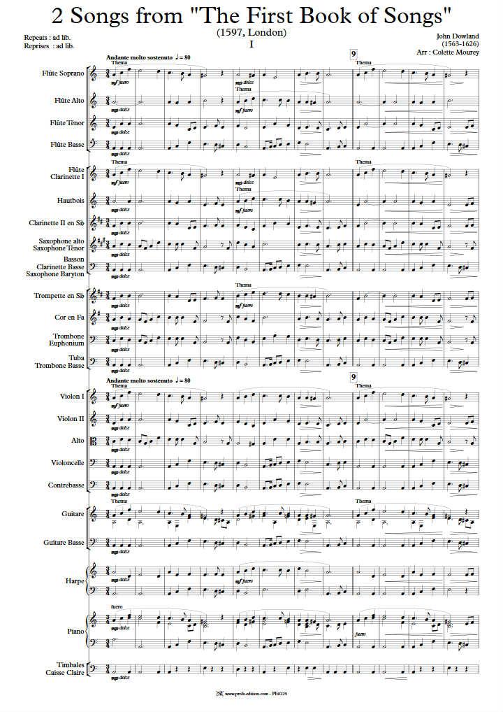 Two Songs - Ensemble Géométrie Variable - DOWLAND J. - app.scorescoreTitle