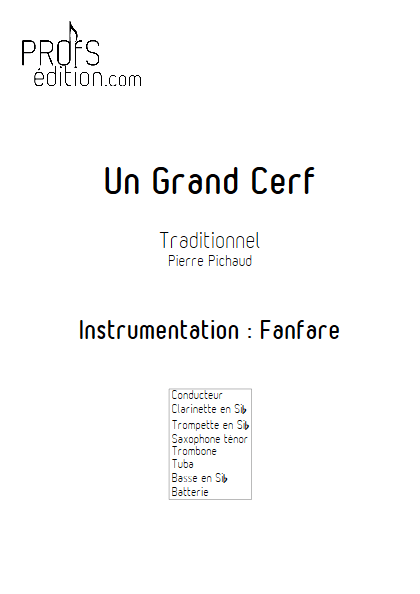 Un Grand Cerf - Fanfare - TRADITIONNEL - front page