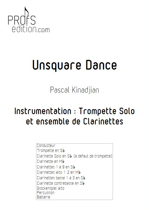 Unsquare Dance - Trompette et ensemble de Clarinettes - KINADJIAN P. - front page