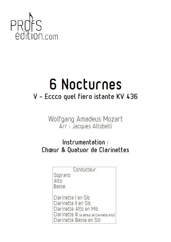 Ecco quel fiero istante KV 436 - Chœur & Quatuor Clarinettes - MOZART W. A. - front page