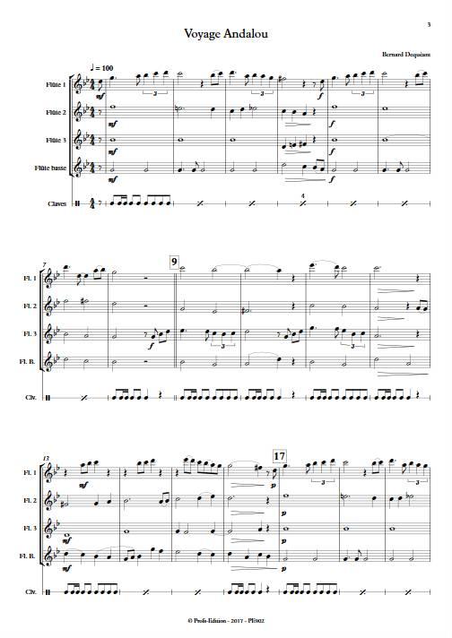 Voyage Andalou - Quatuor de Flûtes - DEQUEANT B. - app.scorescoreTitle