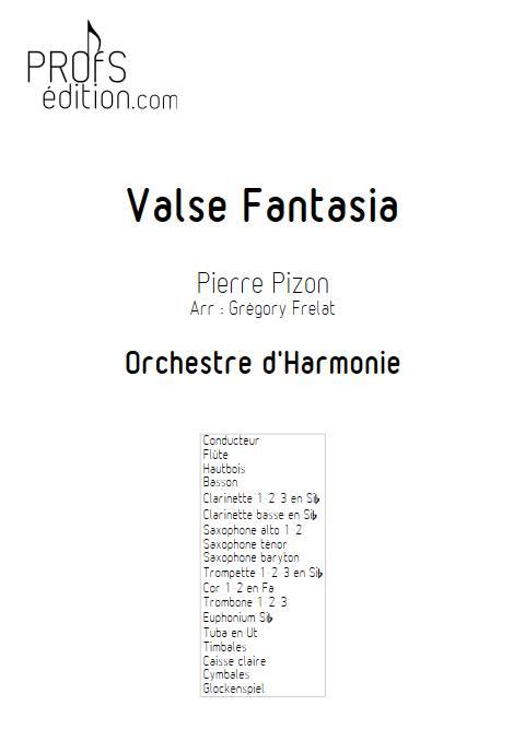 Valse Fantasia - Orchestre d'harmonie - PIZON P. - front page