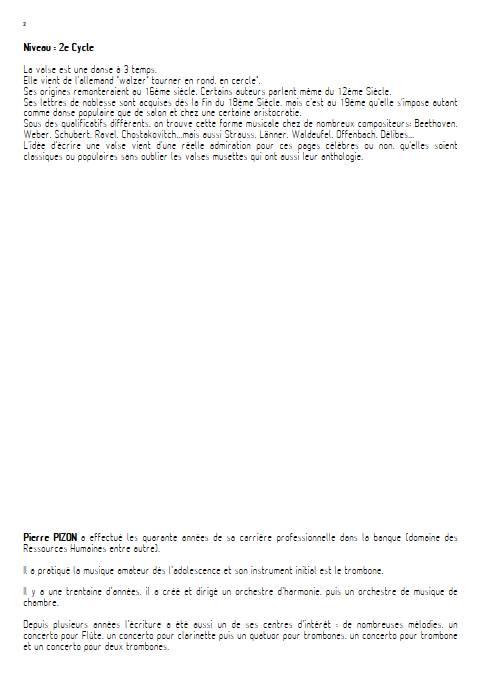 Valse Fantasia - Orchestre d'harmonie - PIZON P. - Educationnal sheet