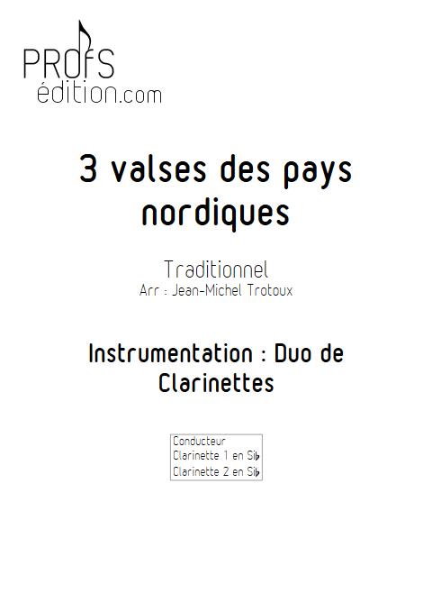 3 Valses des pays nordiques - Duo de Clarinettes - Traditionnel - front page