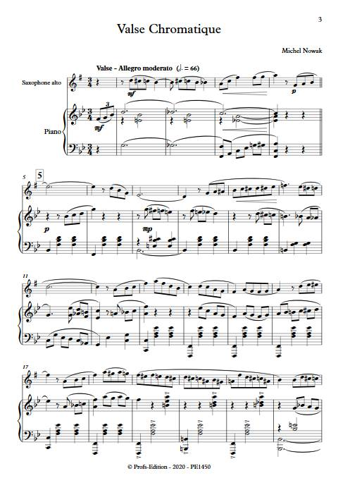 Valse chromatique - Saxophone et pIano - NOWAK M. - app.scorescoreTitle