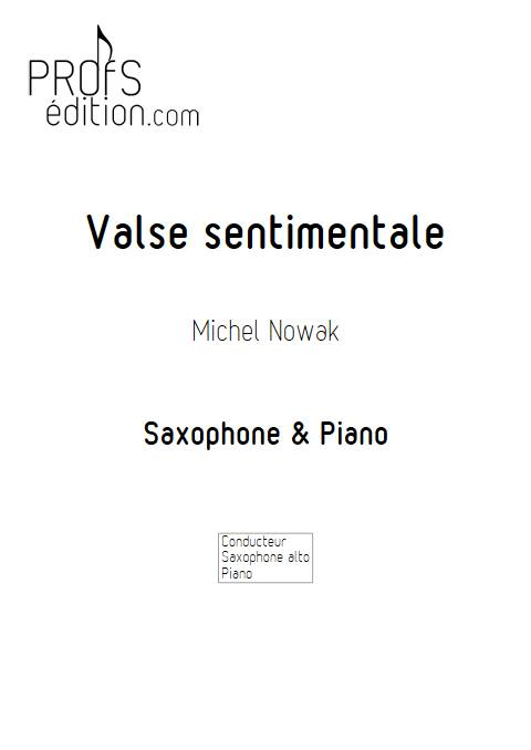 Valse sentimentale - Saxophone & Piano - NOWAK M. - front page