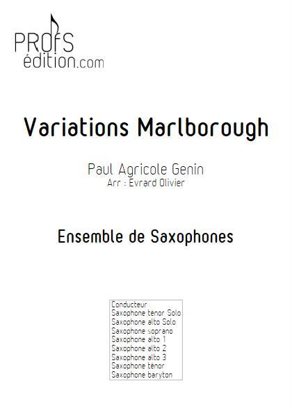 Variations Marlborough - Ensemble de Saxophones - GENIN P. A. - front page