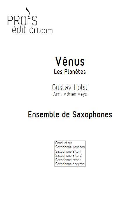 Vénus - Ensemble de Saxophones - HOLST G. - front page