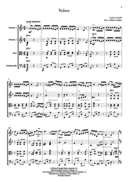 Volver - Quatuor à Cordes - GARDEL C. - app.scorescoreTitle