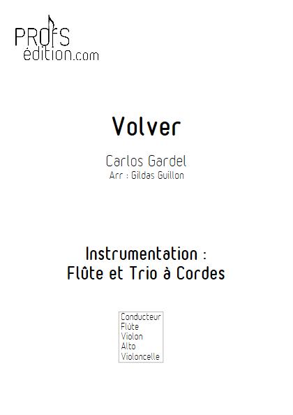 Volver - Flûte et Trio à Cordes - GARDEL C. - front page
