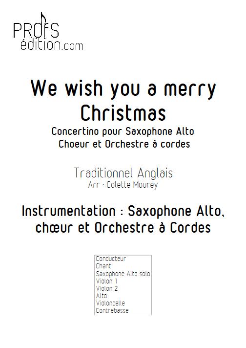 We Wish You a Merry Christmas – Saxophone Chant Orchestre à Cordes - MOUREY C. - front page