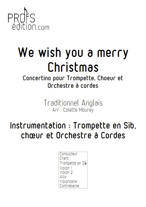 We Wish You a Merry Christmas – Trompette Chant Orchestre à Cordes - MOUREY C. - front page