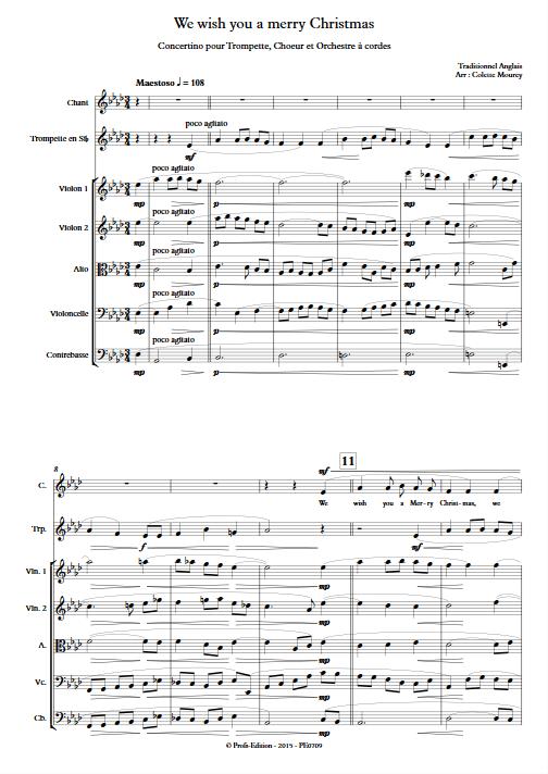 We Wish You a Merry Christmas – Trompette Chant Orchestre à Cordes - MOUREY C. - app.scorescoreTitle