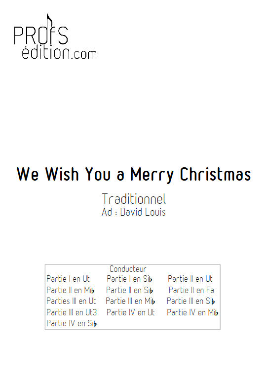 We Wish You a Merry Christmas - Ensemble Géométrie Variable - TRADITIONNEL - front page