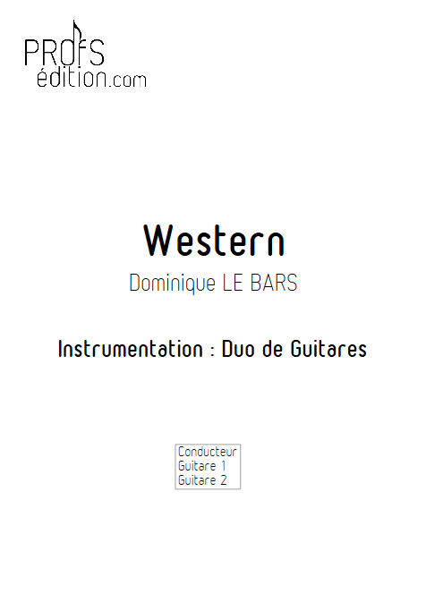 Western - Duos Guitare - LE BARS D. - front page