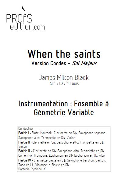 When the saints -Ensemble à Géométrie Variable - BLACK J. M. - front page