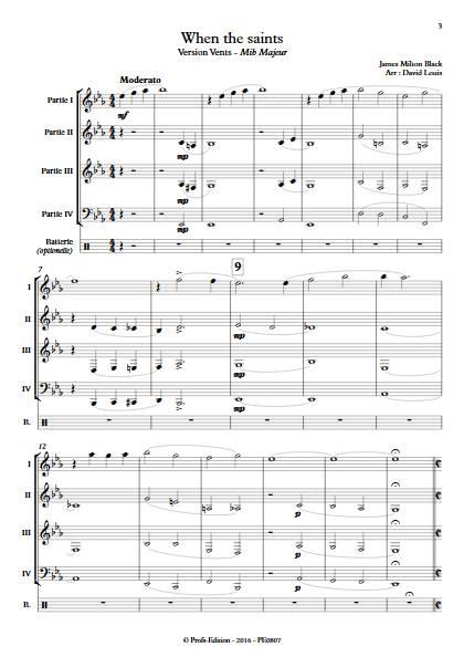 When the saints -Ensemble à Géométrie Variable - BLACK J. M. - app.scorescoreTitle
