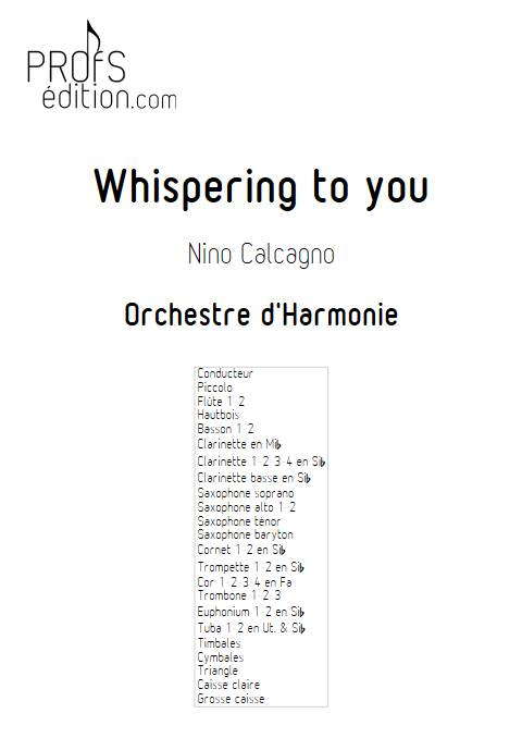 Whispering to you - Orchestre d'Harmonie - CALCAGNO N. - front page