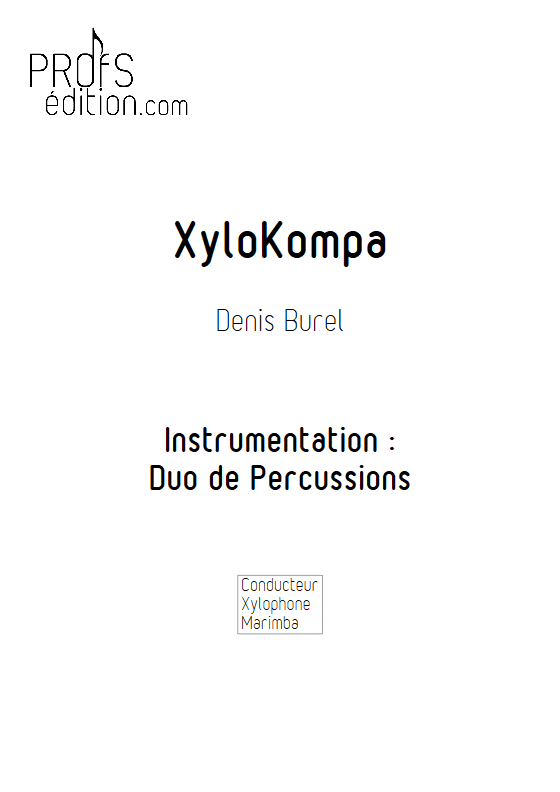 Xylo Kompa - Duo Percussions - BUREL D. - front page
