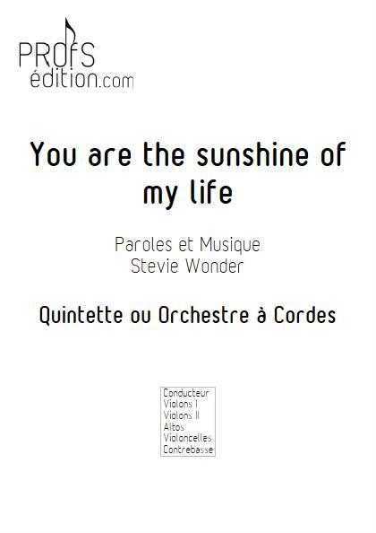 You are the sunshine of my life - Quintette ou Orchestre à Cordes - WONDER S. - front page