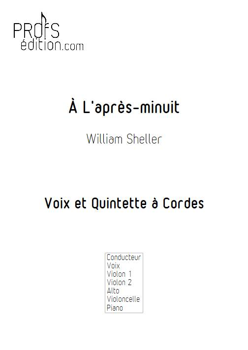 À L'après-minuit - Chant et Quintette à Cordes - SHELLER W. - front page