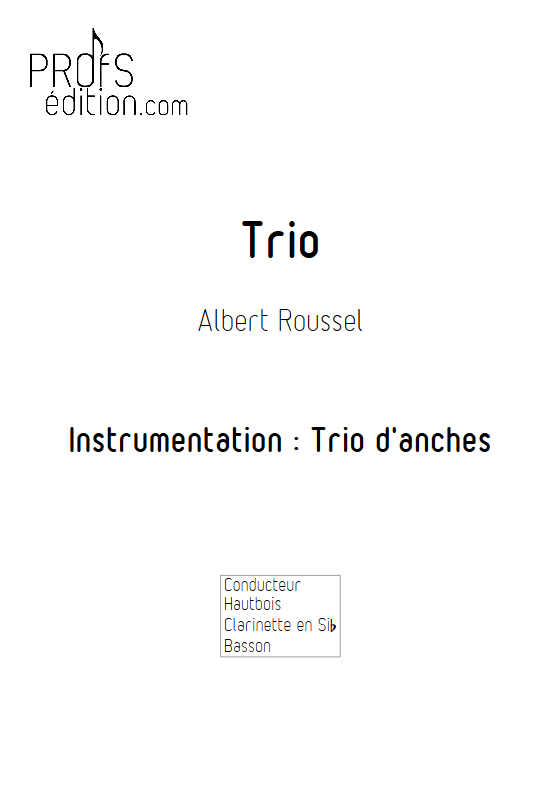 Trio - Trio d'anches - ROUSSEL A. - front page