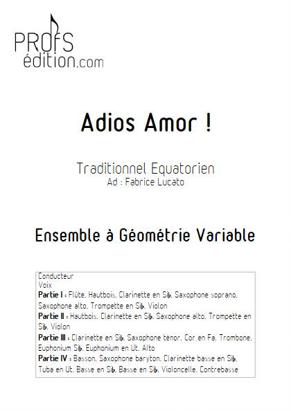 Adios amor - Ensemble Variable - TRADITIONNEL EQUATORIEN - front page