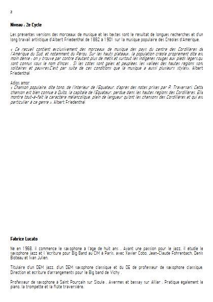 Adios amor - Ensemble Variable - TRADITIONNEL EQUATORIEN - Educationnal sheet