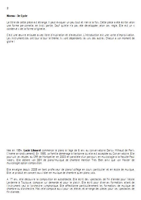 Air condensé - Trio - LIBOUREL L. - Educationnal sheet