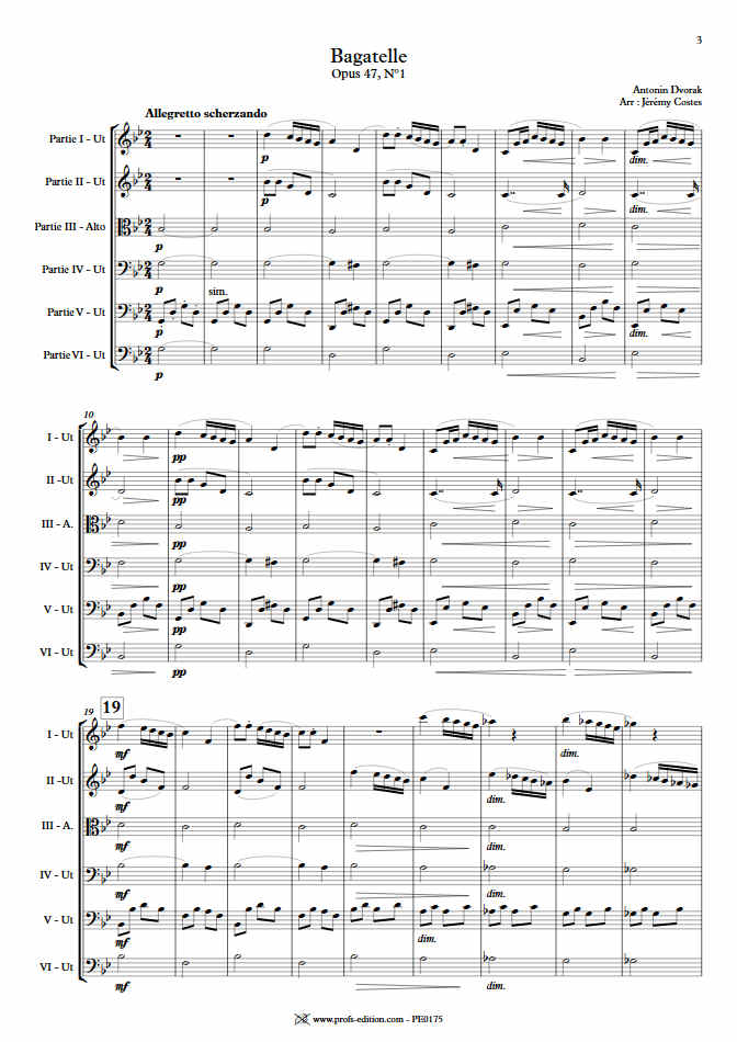 Bagatelle Op.47 - Ensemble Géométrie Variable - DVORAK A. - app.scorescoreTitle