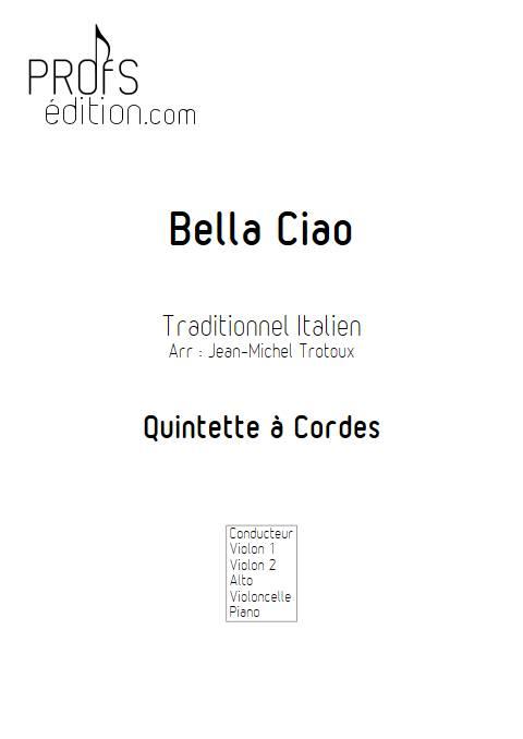 Bella Ciao - Quintette à Cordes - TRADITIONNEL ITALIEN - front page