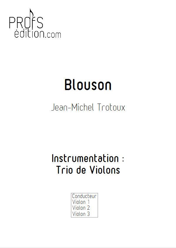 Blouson - Trio de Violons - TROTOUX J. M. - front page