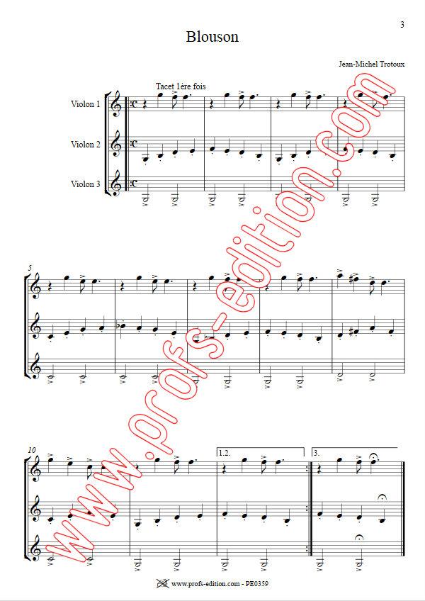 Blouson - Trio de Violons - TROTOUX J. M. - app.scorescoreTitle