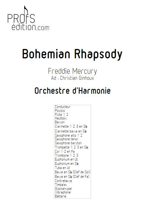 Bohemian Rhapsody - Orchestre d'Harmonie - QUEEN - front page