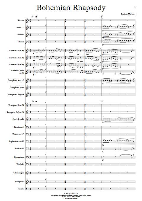 Bohemian Rhapsody - Orchestre d'Harmonie - QUEEN - app.scorescoreTitle