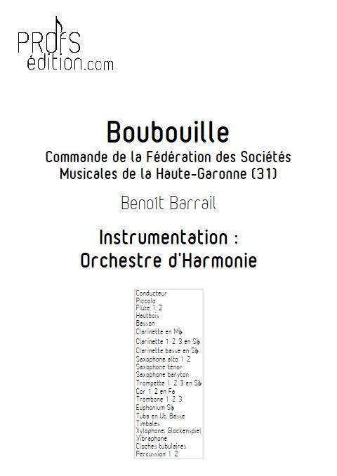 Boubouille - Orchestre d'Harmonie - BARRAIL B. - front page