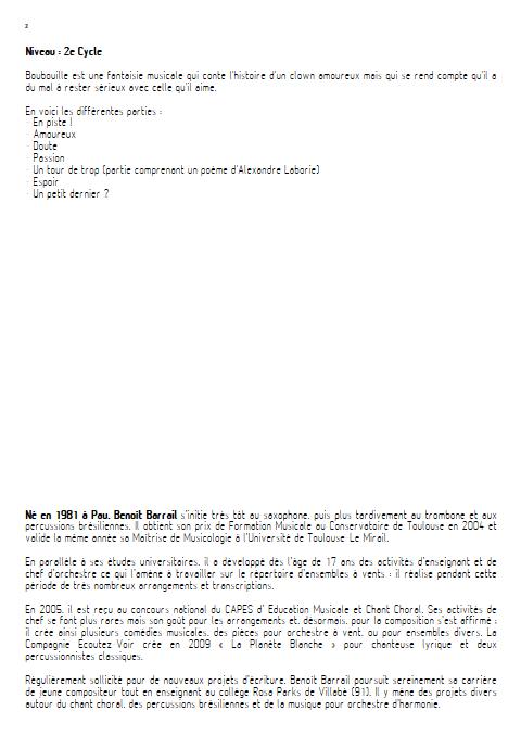 Boubouille - Orchestre d'Harmonie - BARRAIL B. - Educationnal sheet