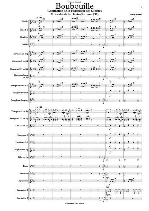 Boubouille - Orchestre d'Harmonie - BARRAIL B. - app.scorescoreTitle