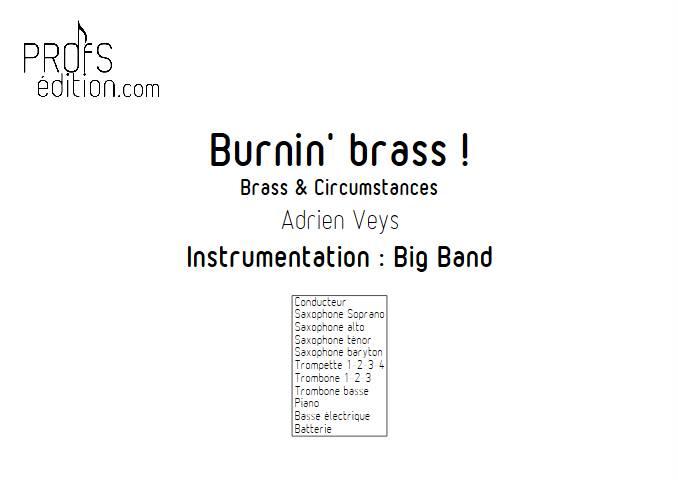 Burnin'Brass - Brass & Circumstances - Big Band - VEYS A. - front page