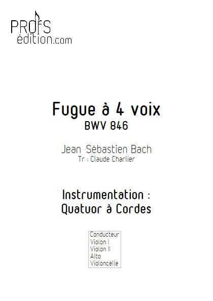 Clavier bien tempéré BWV 846 - Quatuor à Cordes - BACH J. S. - front page