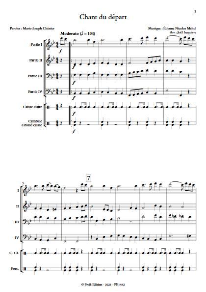 Chant du départ - Fanfare - MEHUL E. N. - app.scorescoreTitle