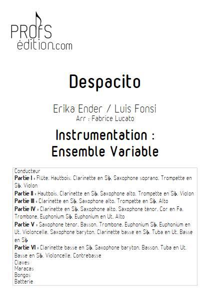 Despacito - Ensemble Variable - FONSI L. - front page