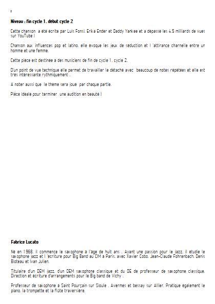 Despacito - Ensemble Variable - FONSI L. - Educationnal sheet