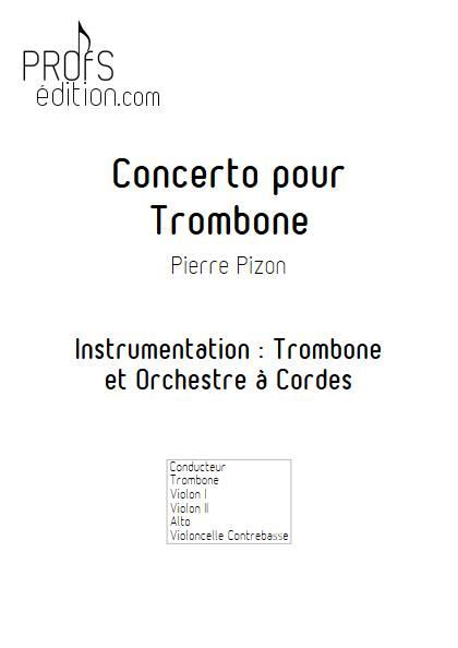 Concerto pour Trombone - Trombone & Cordes - PIZON P. - front page