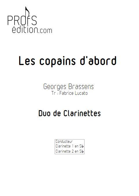 Les copains d'abord - Duo de Clarinettes - BRASSENS G. - front page