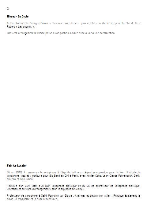 Les copains d'abord - Duo de Clarinettes - BRASSENS G. - Educationnal sheet